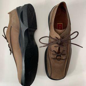 Cole Haan 8M Nike Air Oxford bridle brown shoe